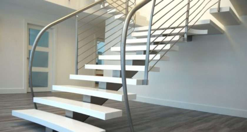 Suspended Style Floating Staircase Ideas
