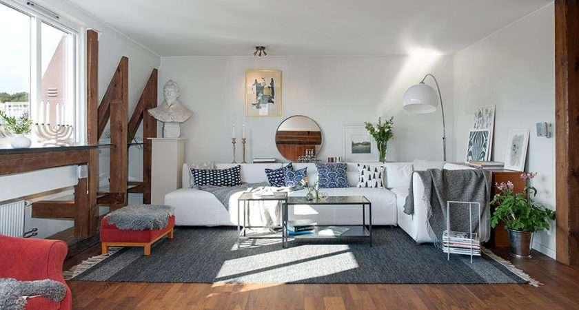 Swedish Apartment Charming Rustic Appeal