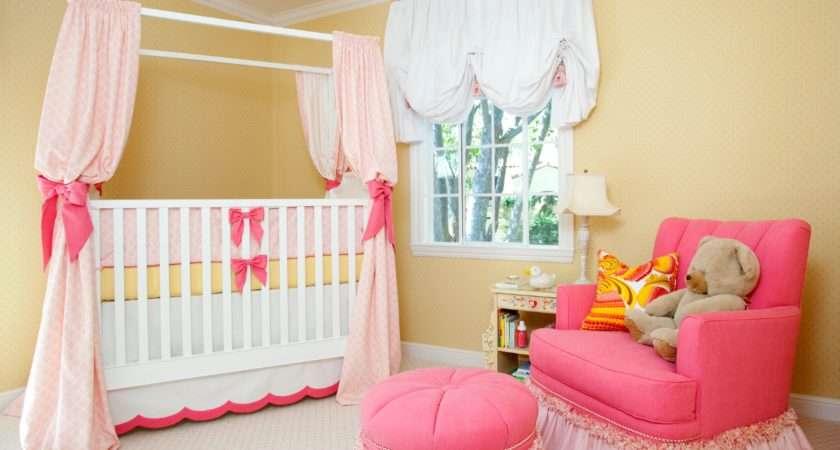 Sweet Pink Yellow Baby Girl Nursery House Ruby Simplified