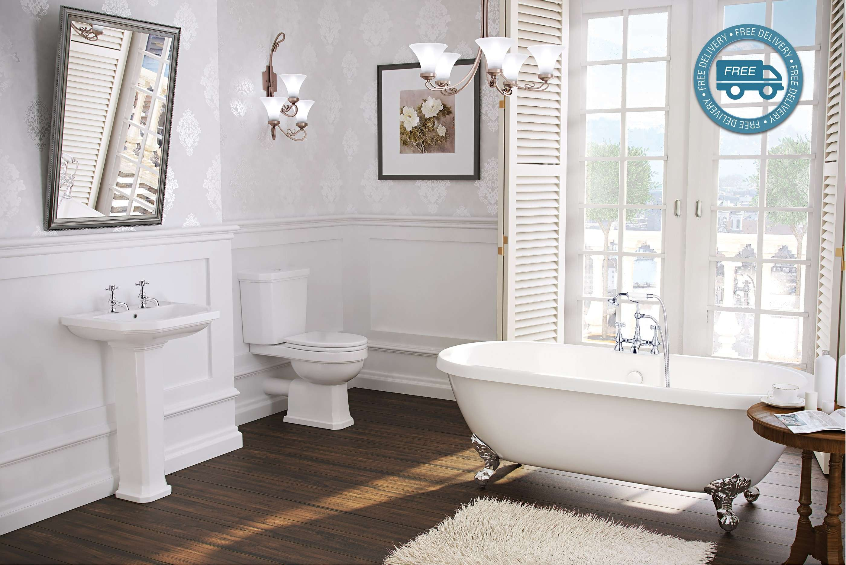 Synergy New Helmsley Freestanding Traditional Bathroom Suite