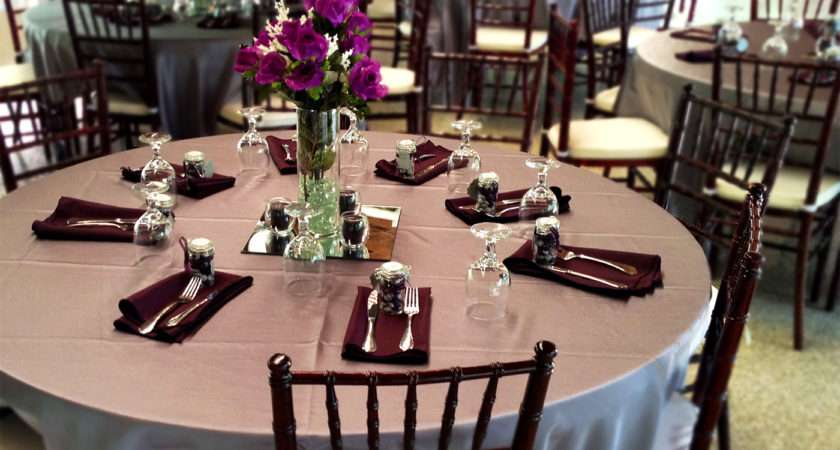 Table Setting Buffet Style Wedding Wall Decal