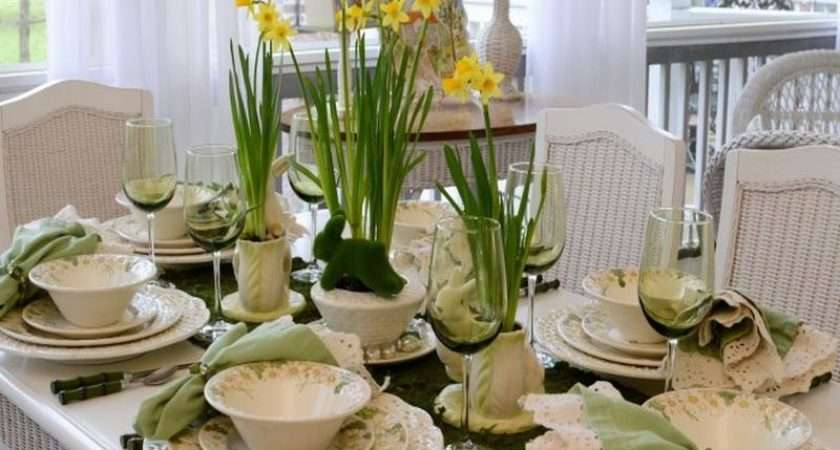 Table Settings Ideas Yellow Flowers