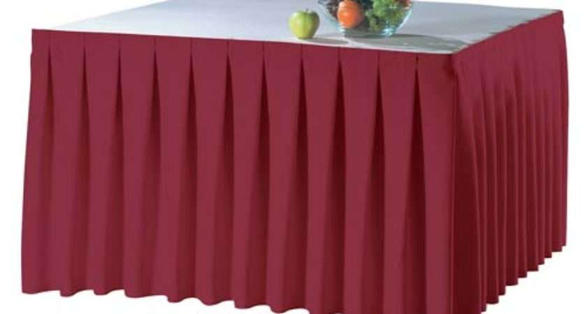 Table Skirting Duralast Oxford Fabric Accordion Pleat