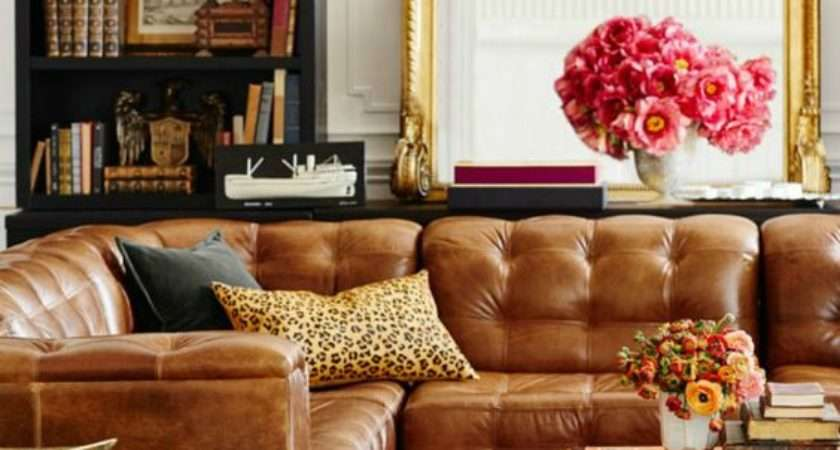 Tanned Leather Sofas Hottest Decorating Trend