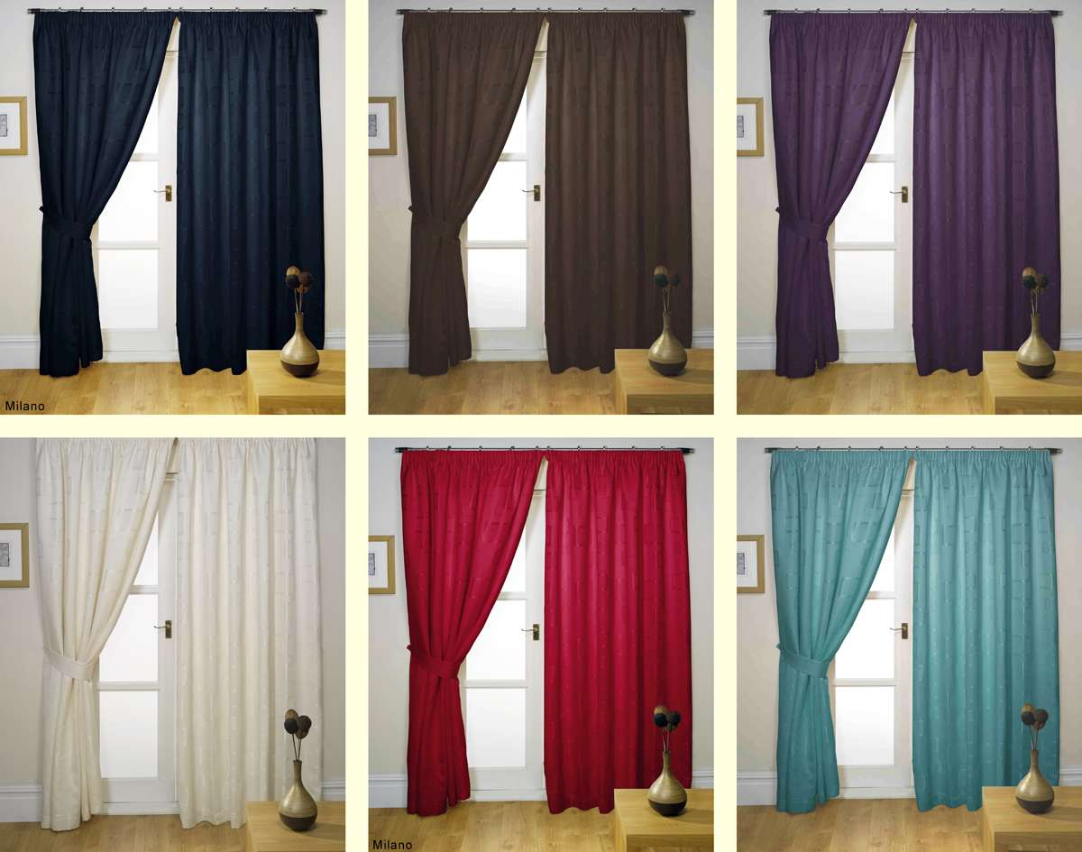Tape Top Fully Lined Ready Made Curtains All Sizes Range Colours