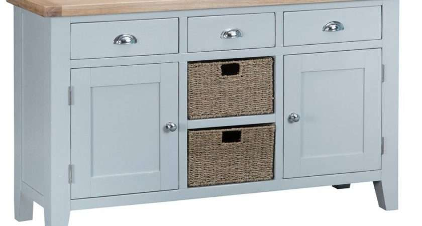 Taunton Grey Large Sideboard Baskets