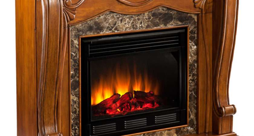 Taylor Fireplace Walnut Electric Victorian