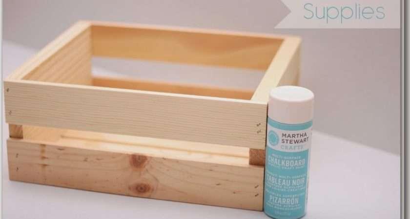 Teacher Gift Idea Chalkboard Paint Veggie Crate