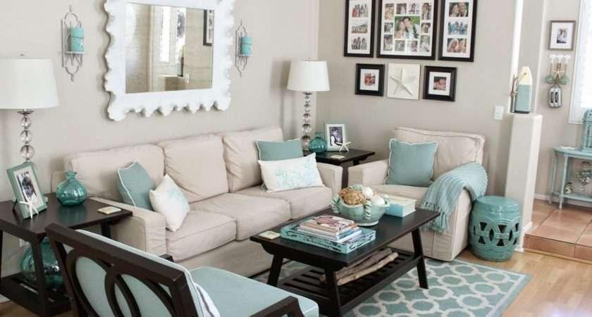 Teal Black White Living Room Ideas Turquoise Beige