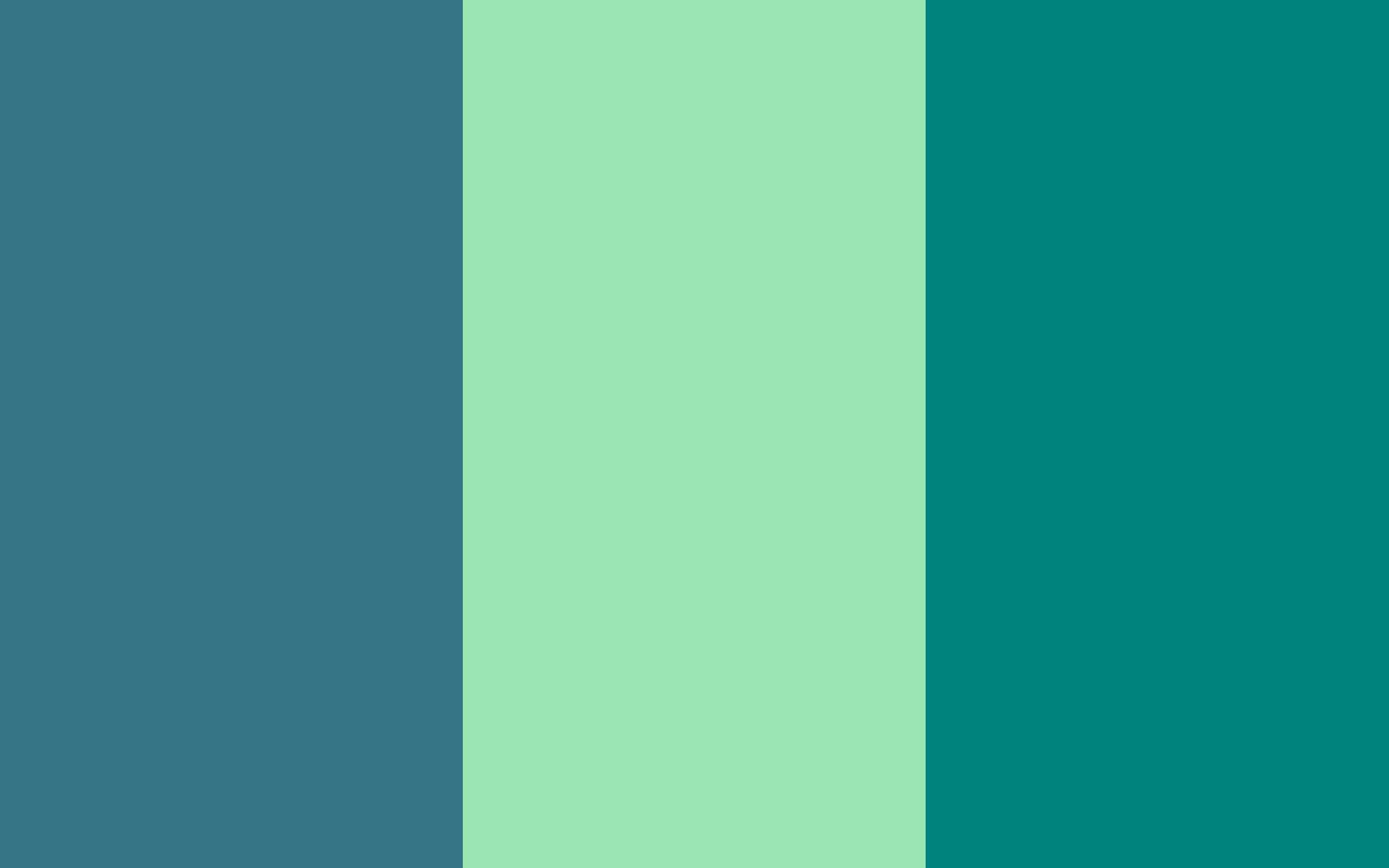 Teal Blue Deer Green Three Color