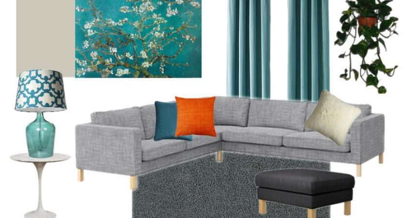 Teal Gray Living Room Creating Interiors