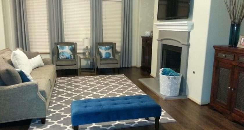 Teal Gray Living Room Home Pinterest
