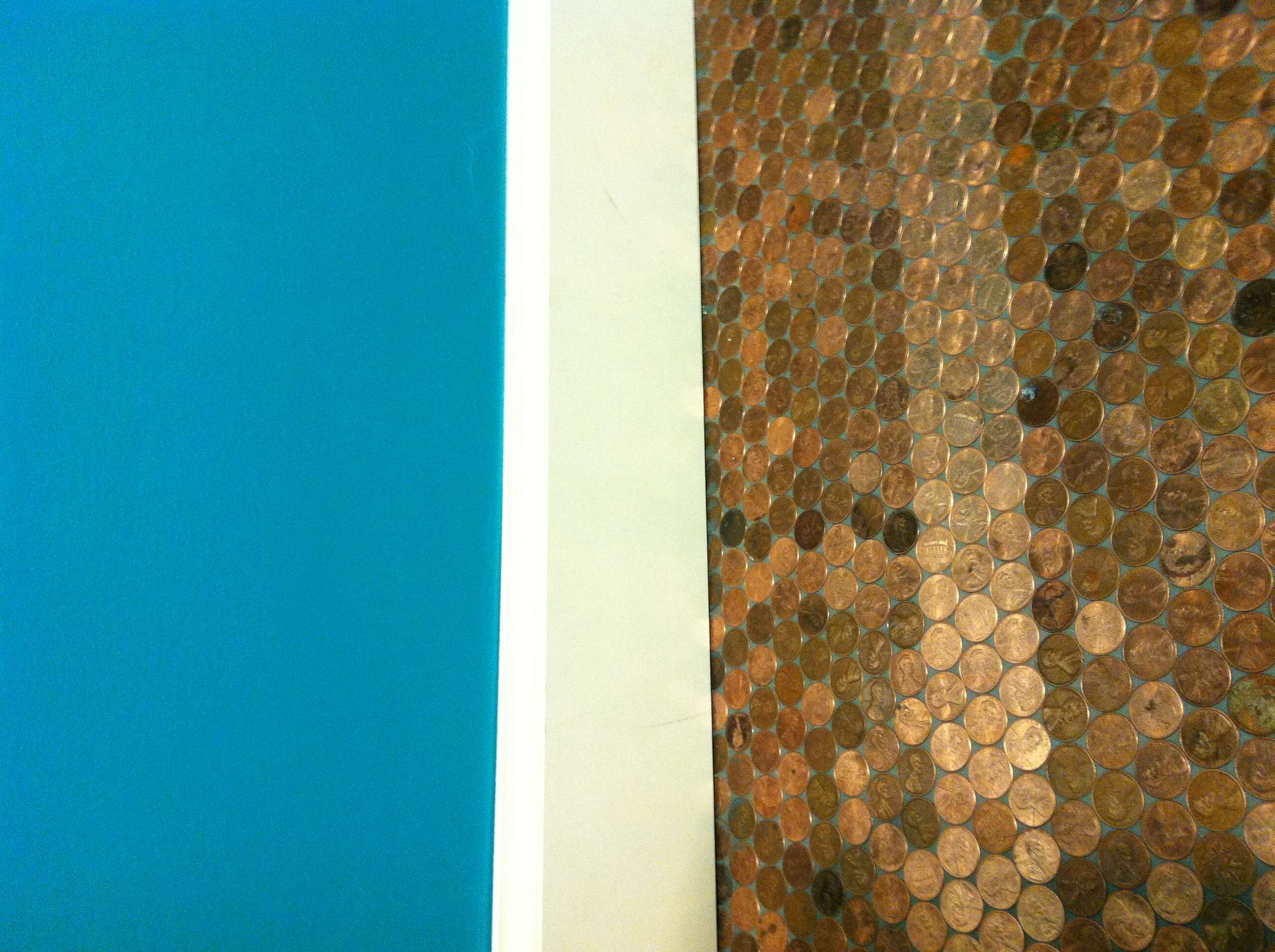 Teal Walls Copper Tile Flooring Fun Stuffs Pinterest