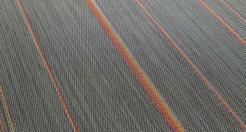 Tec Woven Vinyl Flooring Bazalt Orange Rolls