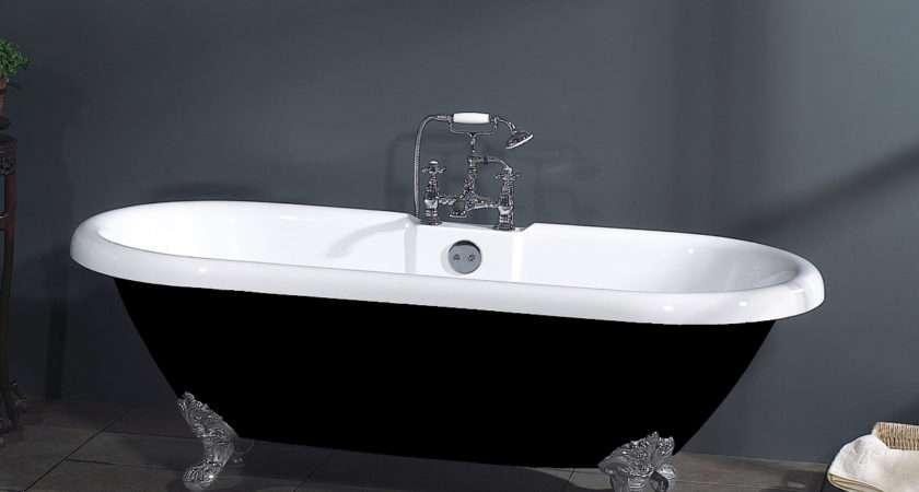 Technique Victoria Black Roll Top Bath Ams Plumbing