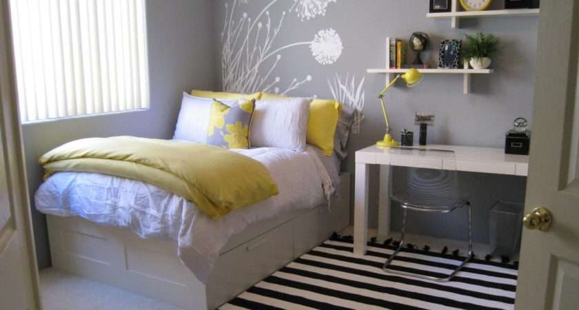 Teen Lavender Yellow Bedroom