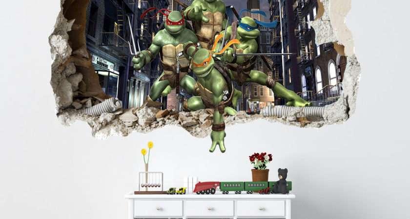Teenage Mutant Ninja Turtles Smashed Wall Sticker