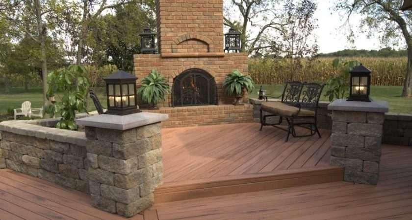 Terrace Garden Designs Classic Wooden Backyard Decking Ideas