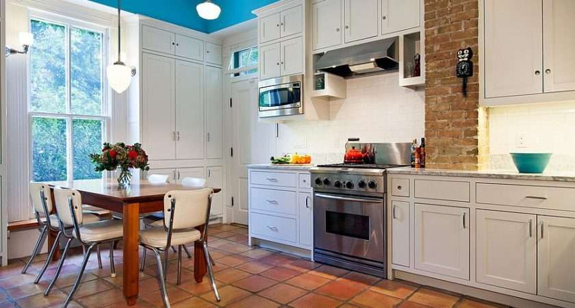 Terracotta Tiles Make Their Presence Felt Victorian Kitchen