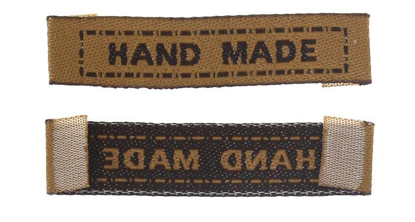 Terylene Woven Labels Scrapbooking Craft Rectangle Brown