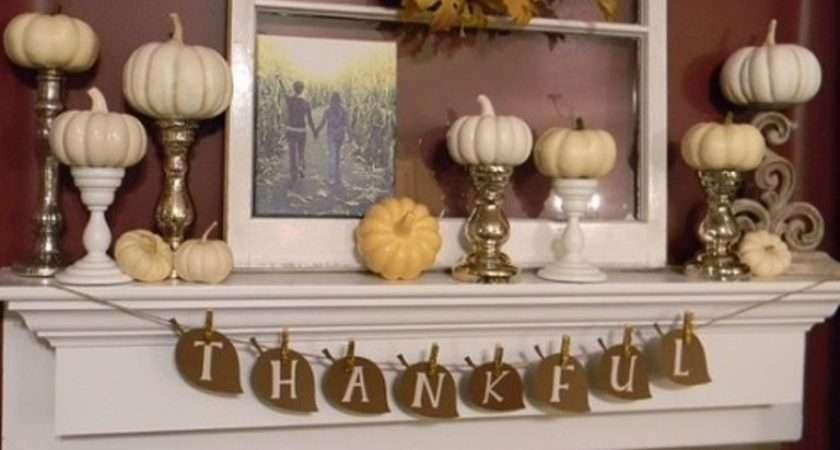 Thanksgiving Mantelpiece Cor Ideas Digsdigs