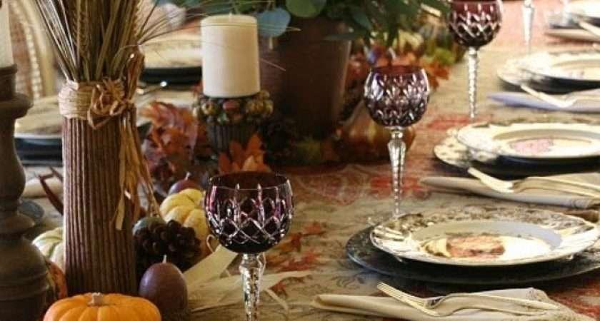 Thankskiving Table Setting Ideas