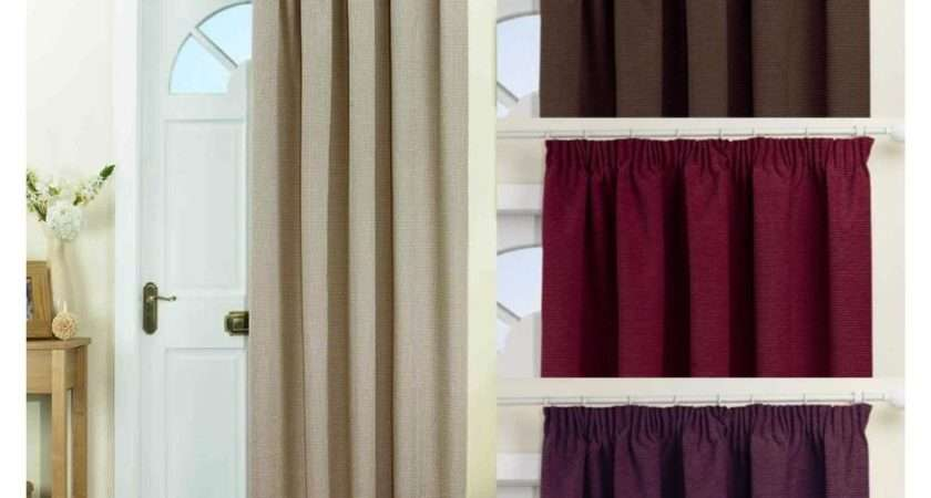 Thermal Lined Blockout Door Curtain Four Colours Ebay