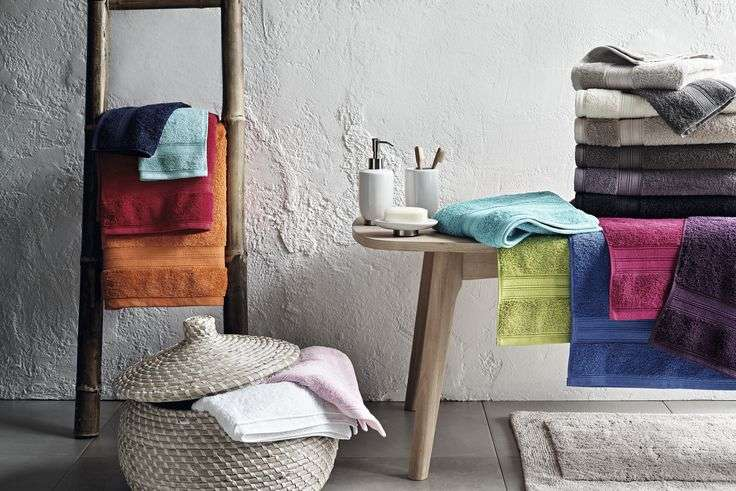 These Plain Bright Coloured Towels Home Collection Crafted