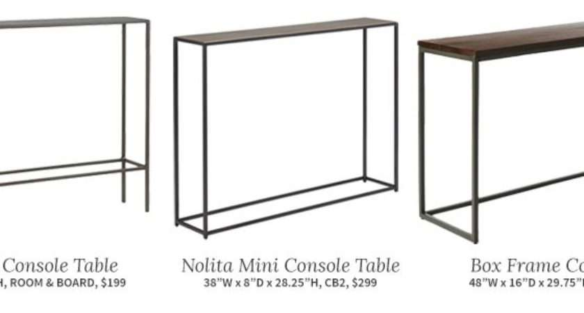 These Three Tables Each Very Similar Slim Console Table