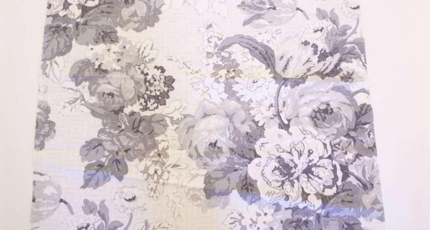 Thibaut Toile Fabric Wild Floral Grey Fabricsamples