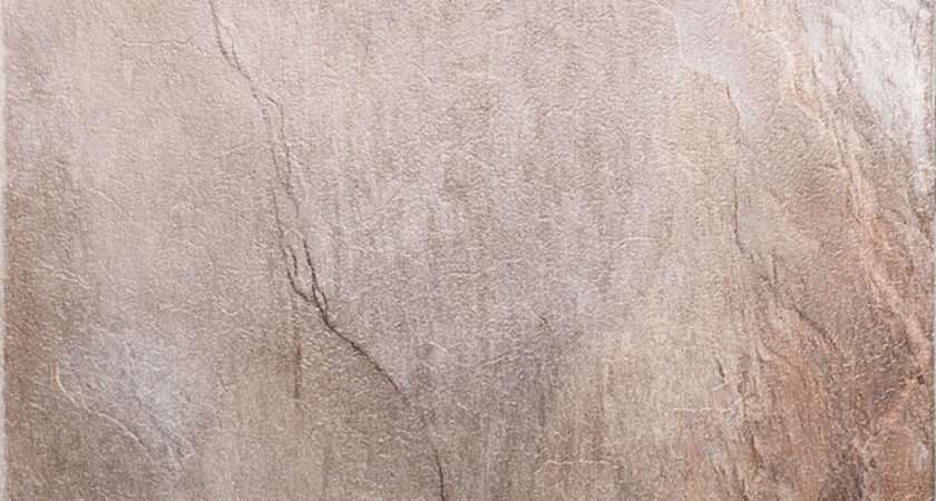 Thick Vinyl Flooring Grey Brown Natural Large Slate