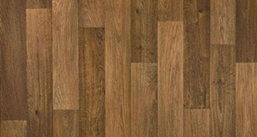 Thick Vinyl Flooring Realistic Brown Wood Plank