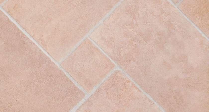 Thick Vinyl Flooring Soft Beige Stone Brick Tile