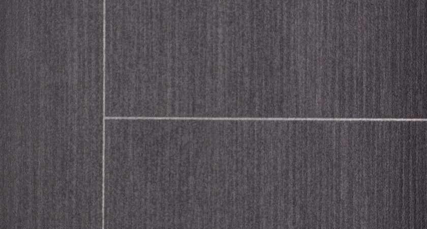 Thick Vinyl Flooring Subtle Striped Tile Effect Lino