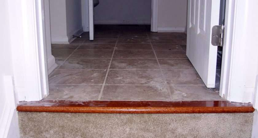 Threshold Between Upstairs Laundry Hall Carpet Flash Makes