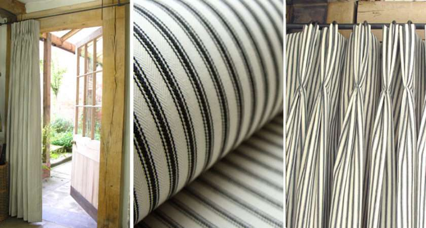 Tickings Make Really Smart Triple Pleated Curtains One Lined
