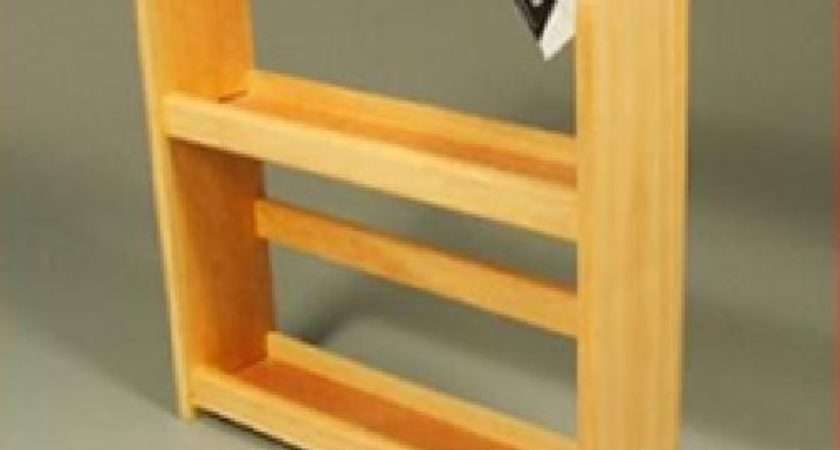 Tier Spice Rack Wall Mounted Standing Wooden Ebay