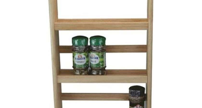 Tier Wooden Spice Rack Herb Storage Holder Standing