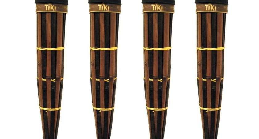 Tiki Royal Polynesian Bamboo Torch Dark Finish