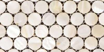 Tile Bathroom Wall Mirror Tiles Penny Round Shell Mosaic Shower