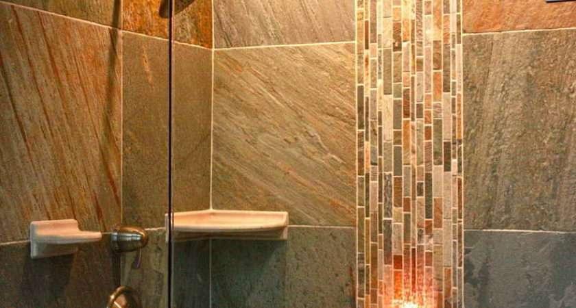 Tile Walk Shower Designs Along