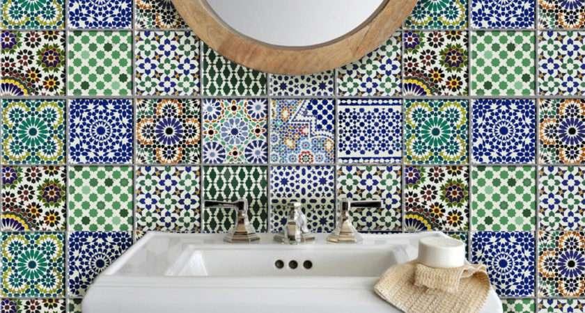 Tile Wall Decal Kitchen Bathroom Moroccan Bleucoin