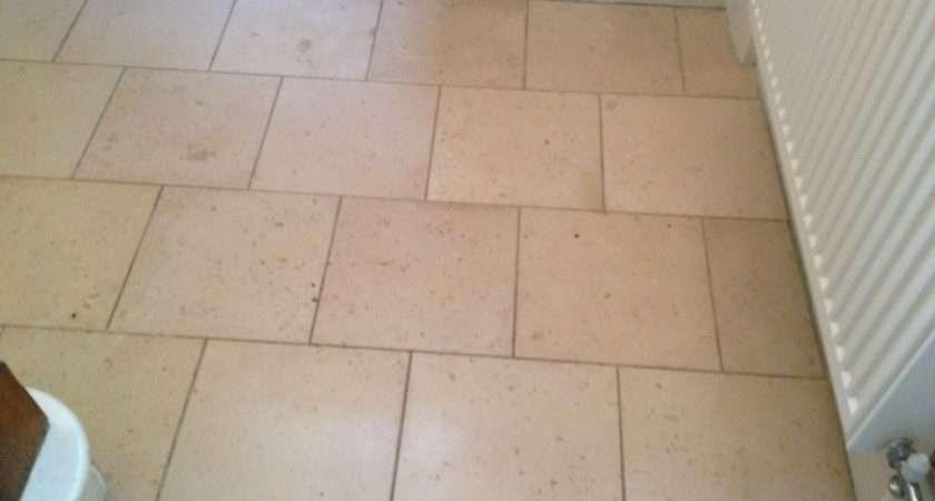 Tiled Entrance Hall Cleaned Burford Oxfordshire Tile Doctor