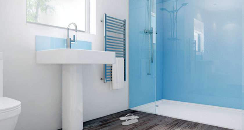 Tiling Bathroom Blue Mermaid Shower Panel Wall