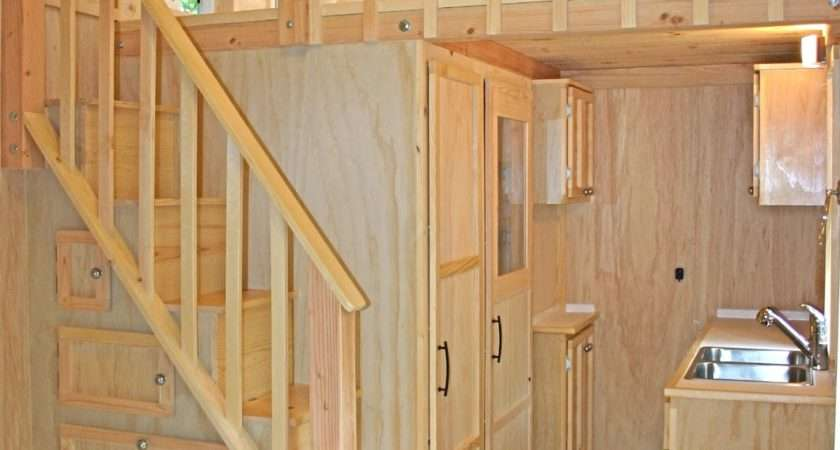 Tiny House Stair Storage Interior Big