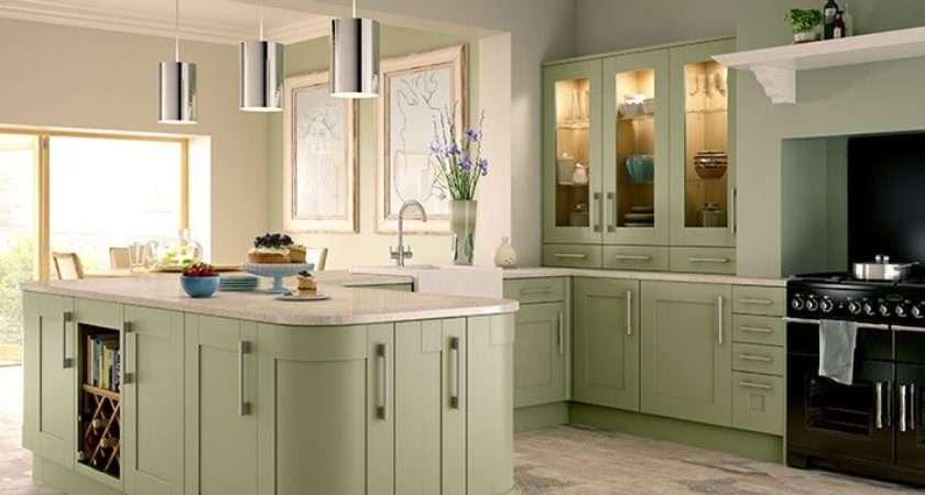Tiverton Sage Green Kitchen Wickes
