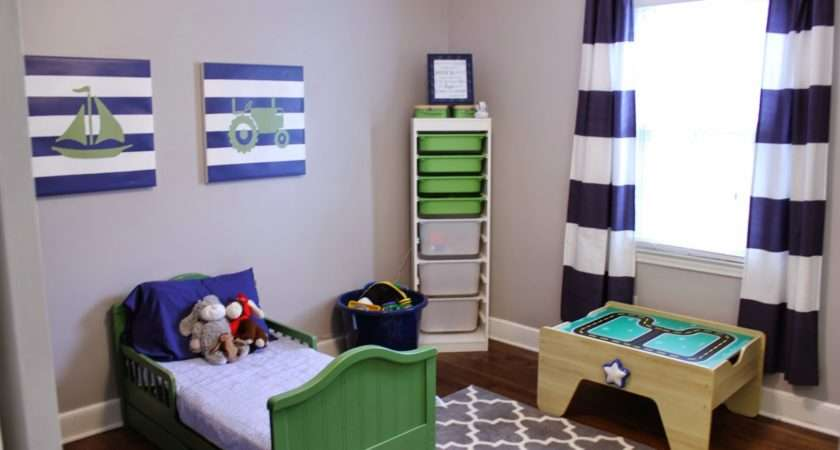 Toddler Boy Bedroom Transportation Theme Room Home Decorating Diy