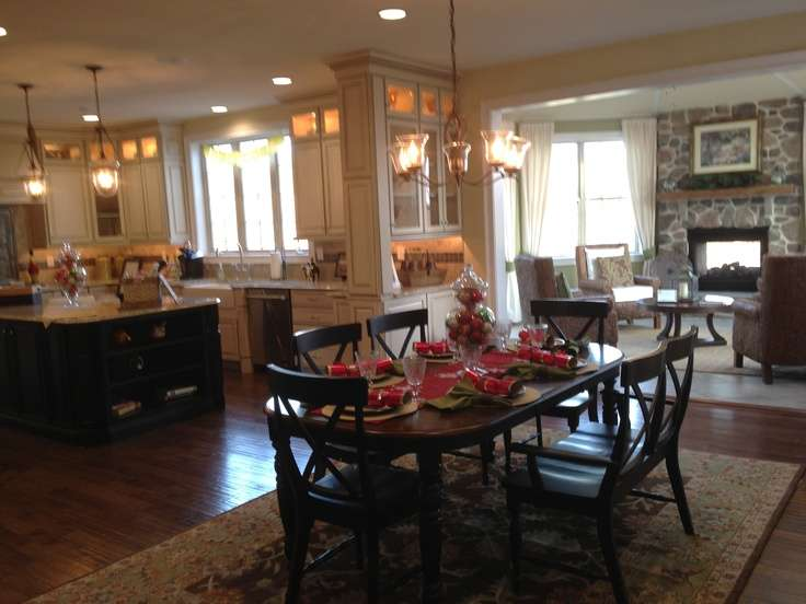 Toll Brothers Love Their Open Floor Plan Large Kitchen