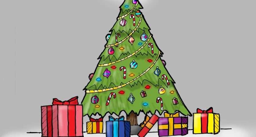 Top Christmas Tree Drawing