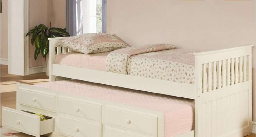 Top Daybed Trundle Drawers